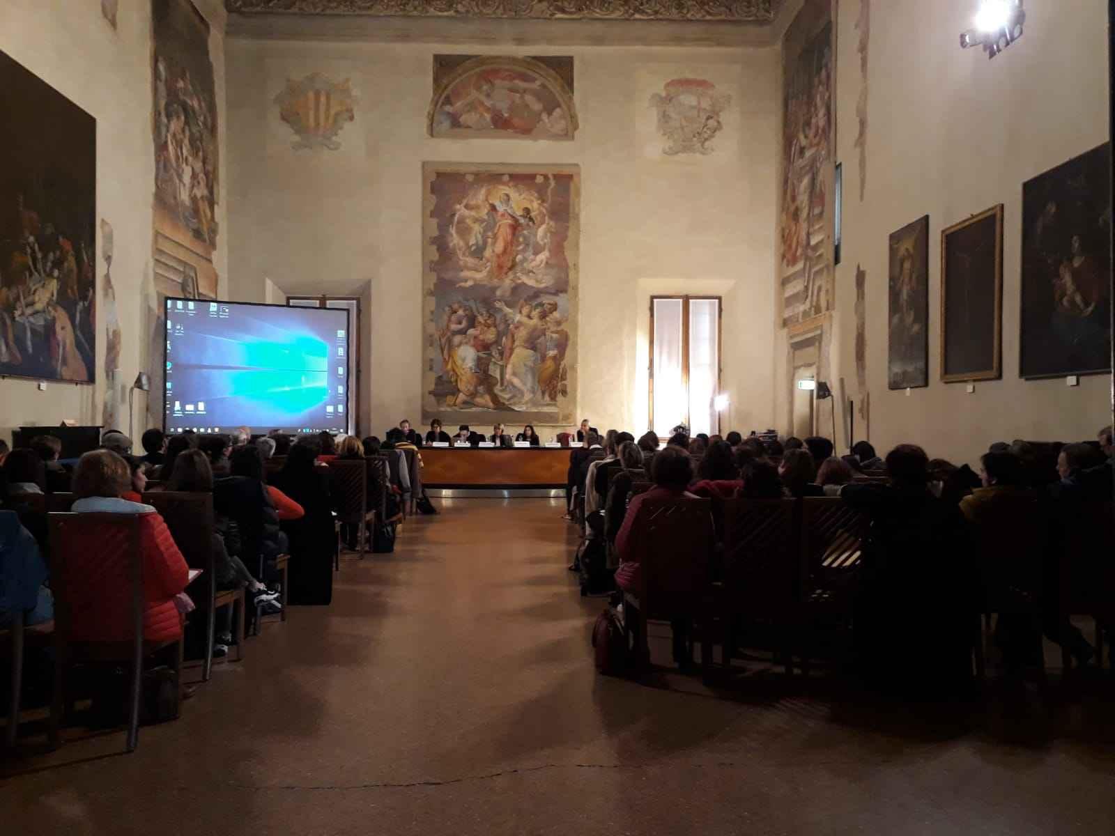 Palazzo d'accursio, Sala Farnese, evento sul contrasto alla grave emarginazione e il sostegno ai migranti